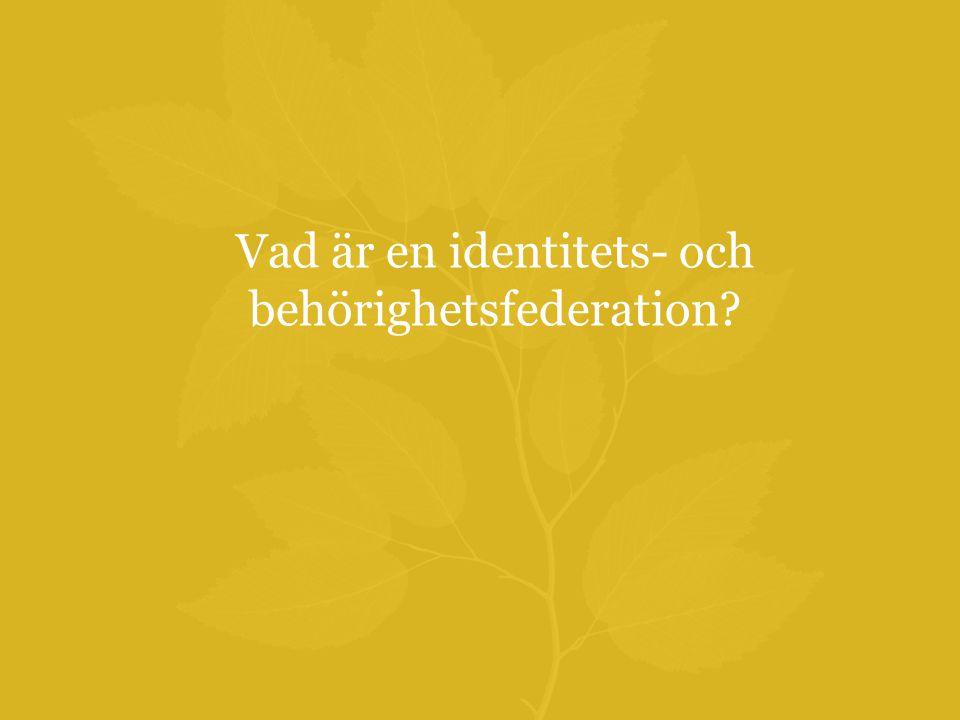 Vad är en identitets- och behörighetsfederation