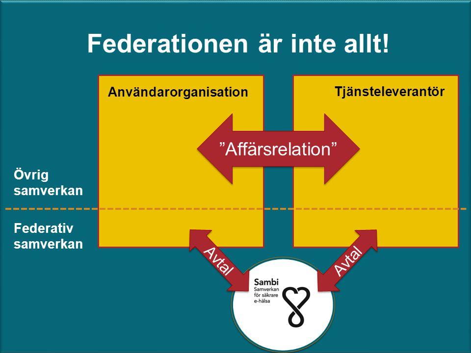 Federationen är inte allt!