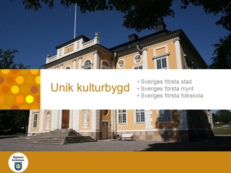 Unik kulturbygd • Sveriges första stad • Sveriges första mynt