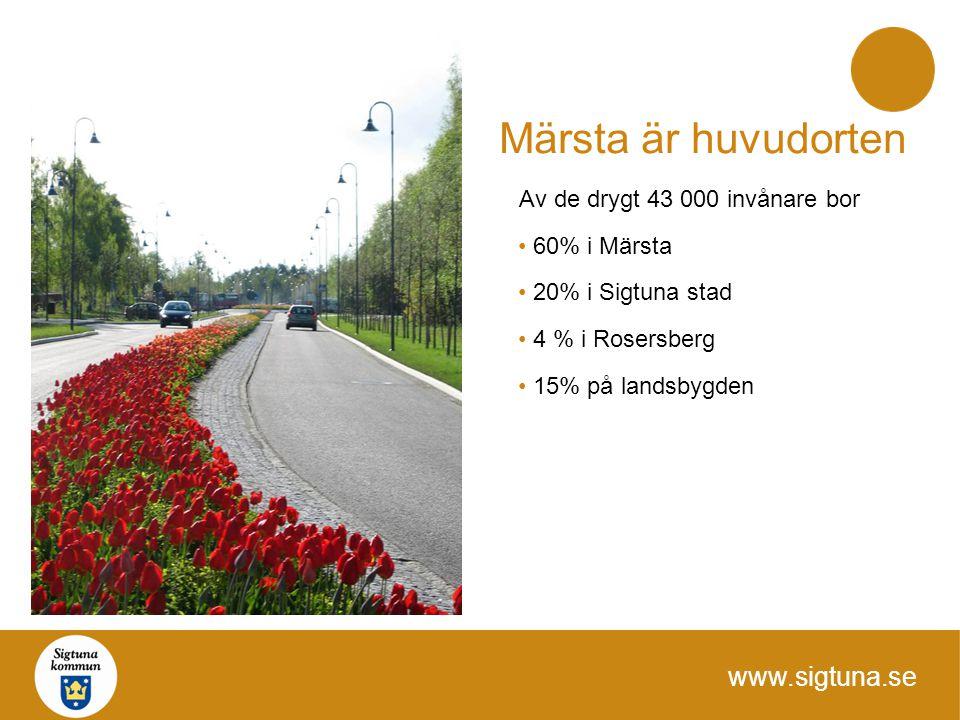Märsta är huvudorten Av de drygt 43 000 invånare bor 60% i Märsta