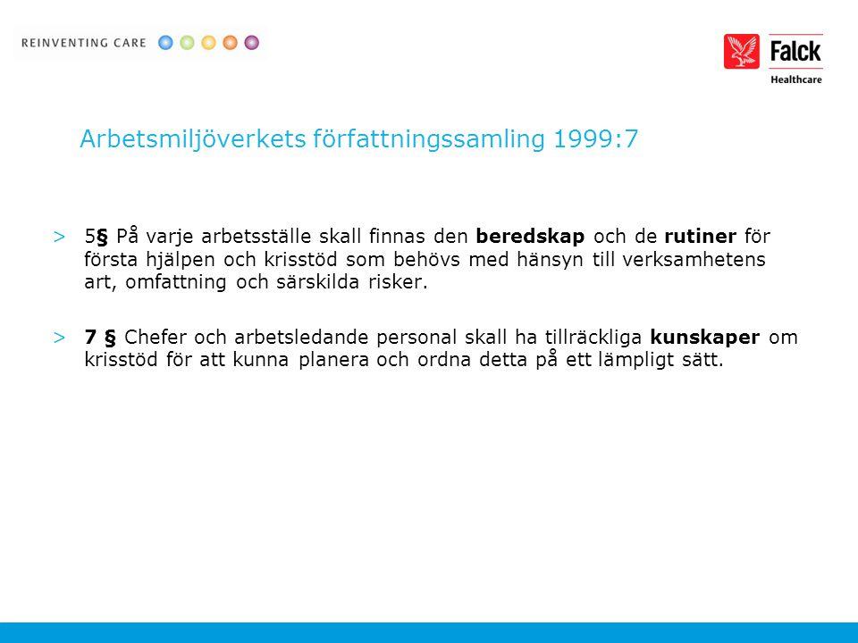 Arbetsmiljöverkets författningssamling 1999:7
