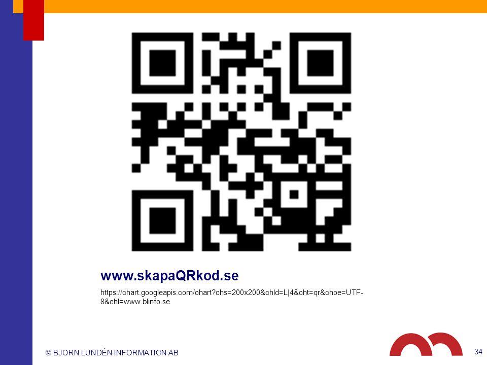 www.skapaQRkod.se https://chart.googleapis.com/chart chs=200x200&chld=L|4&cht=qr&choe=UTF-8&chl=www.blinfo.se.