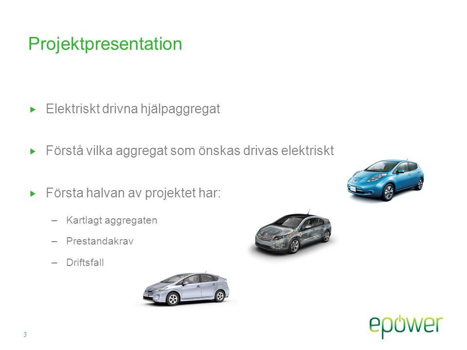 Projektpresentation Elektriskt drivna hjälpaggregat