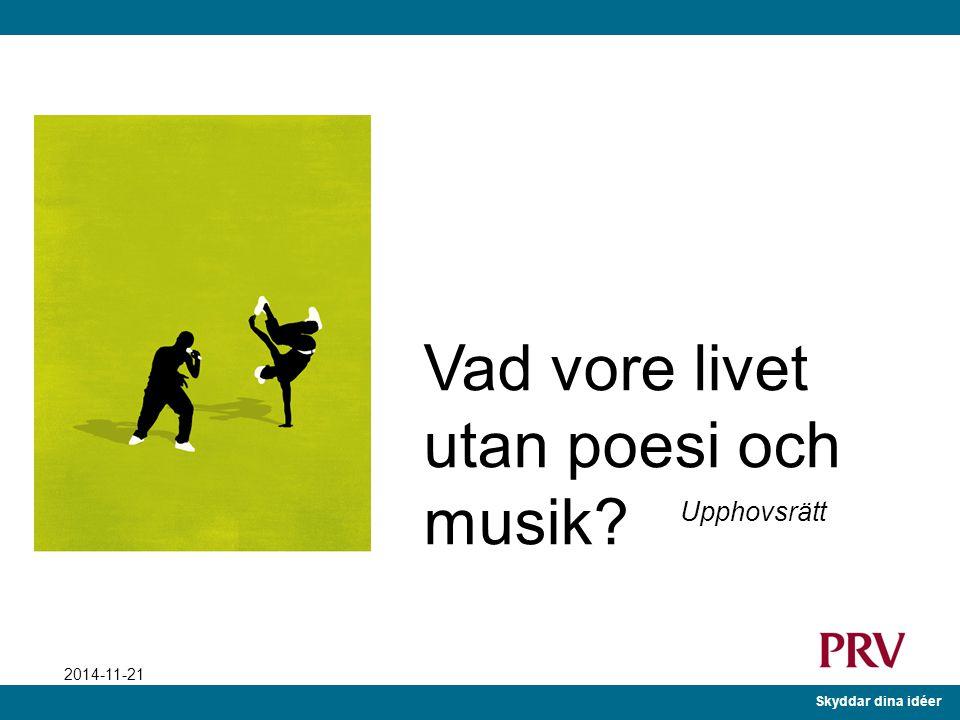 Vad vore livet utan poesi och musik