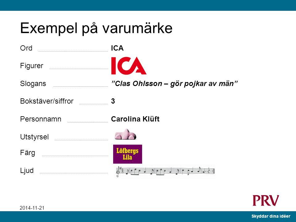 Exempel på varumärke Ord ICA Figurer