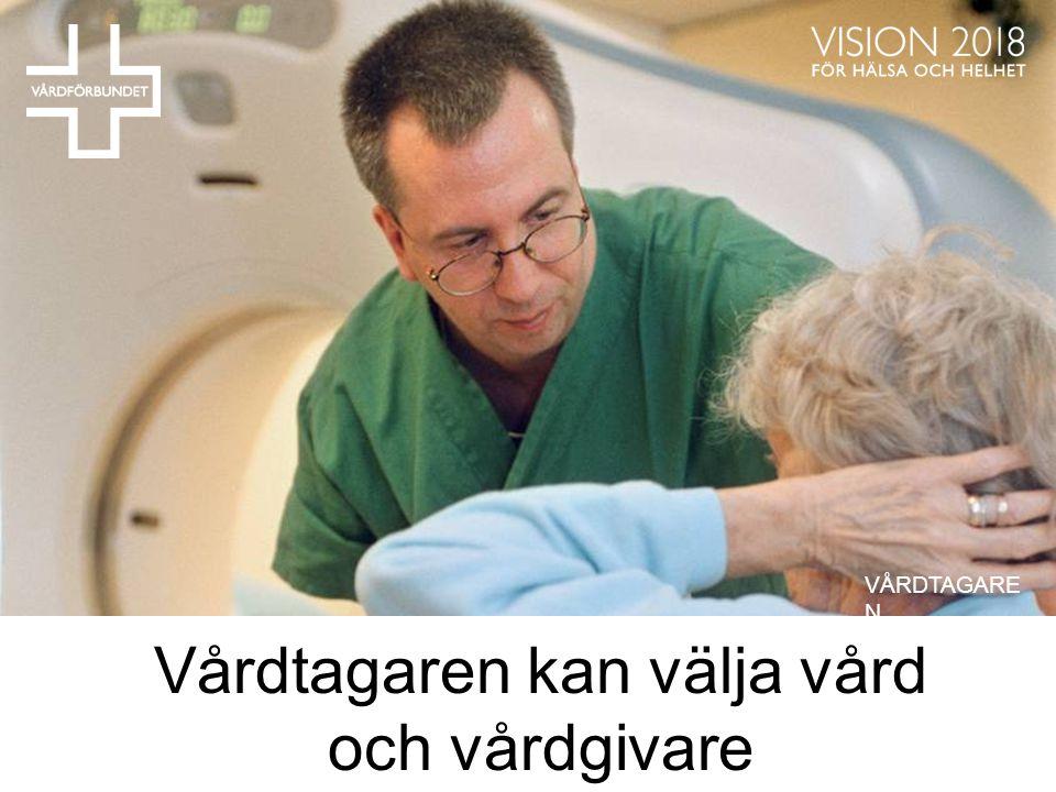 Vårdtagaren kan välja vård och vårdgivare