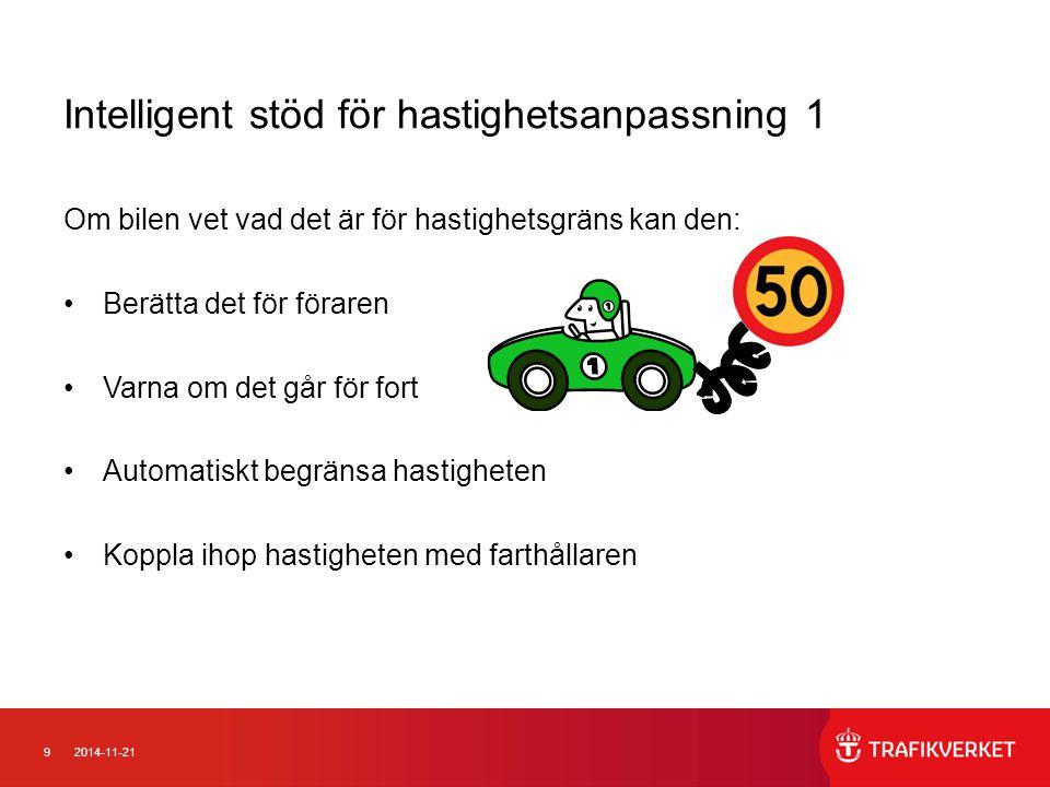 Intelligent stöd för hastighetsanpassning 1