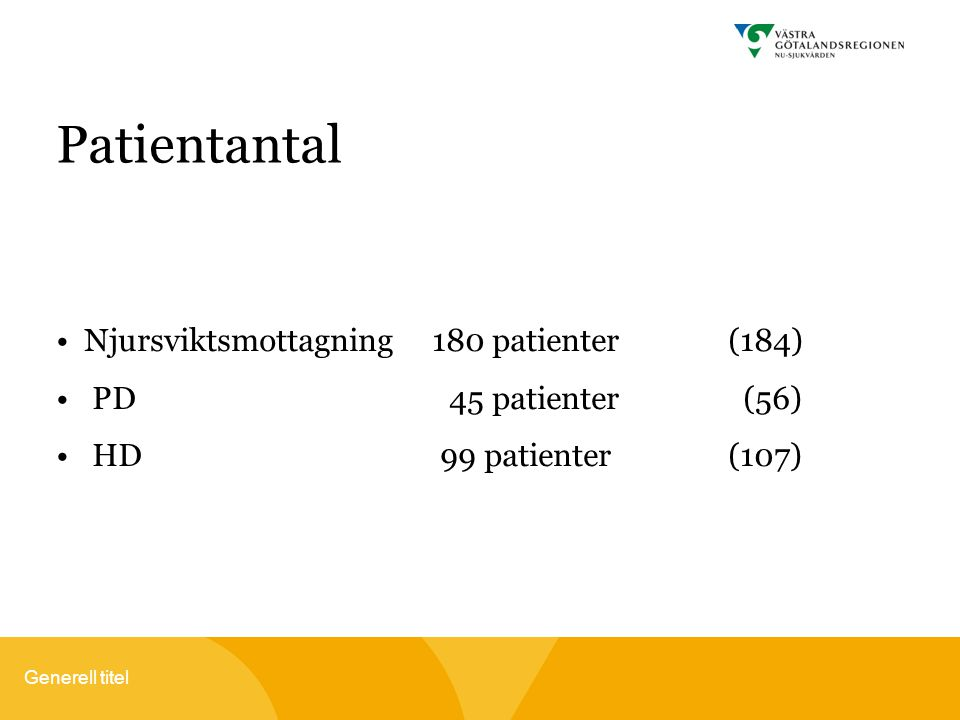 Patientantal Njursviktsmottagning 180 patienter (184)