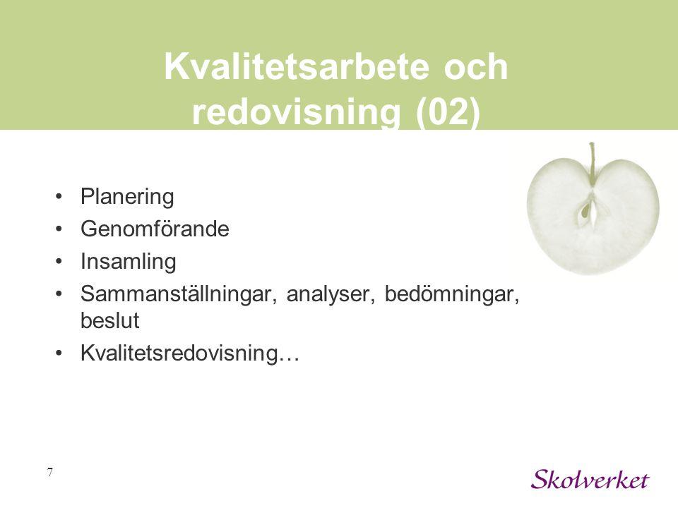 Kvalitetsarbete och redovisning (02)