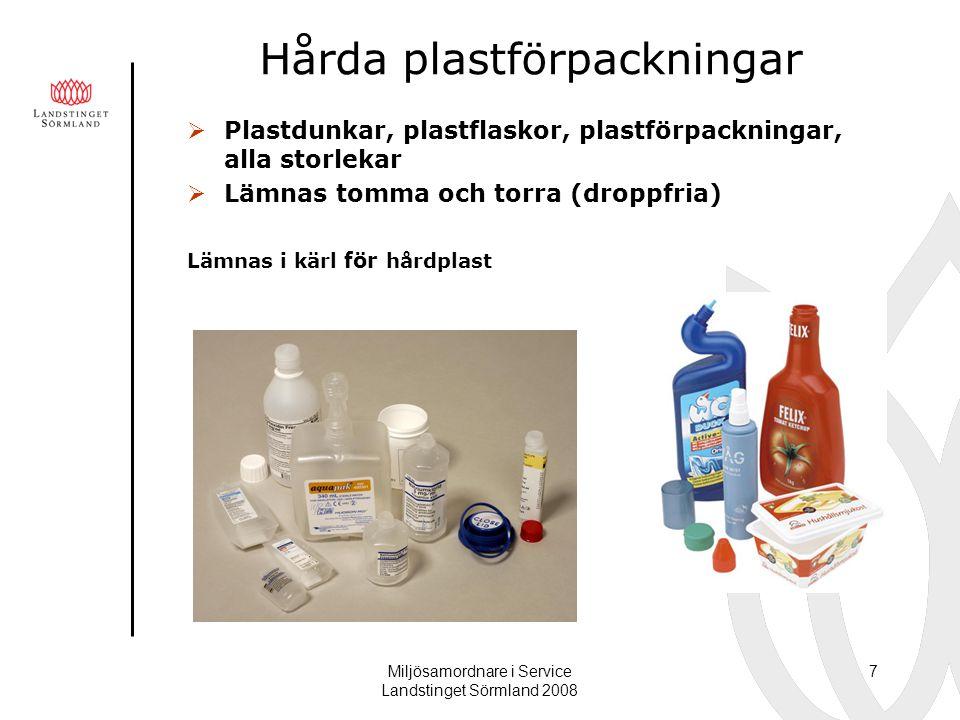 Hårda plastförpackningar