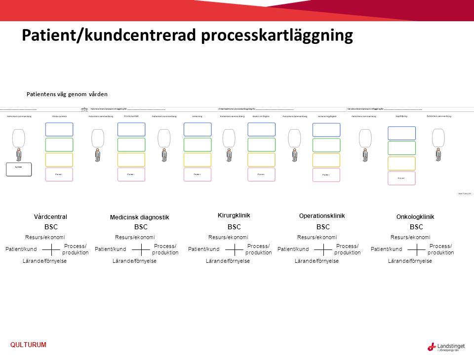 Patient/kundcentrerad processkartläggning
