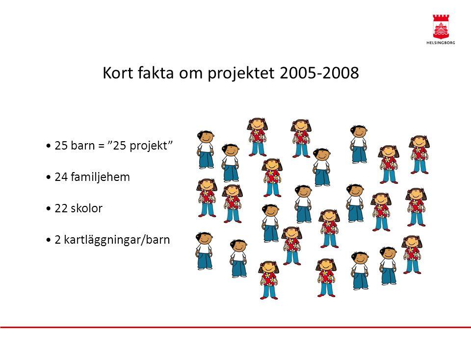 Kort fakta om projektet 2005-2008