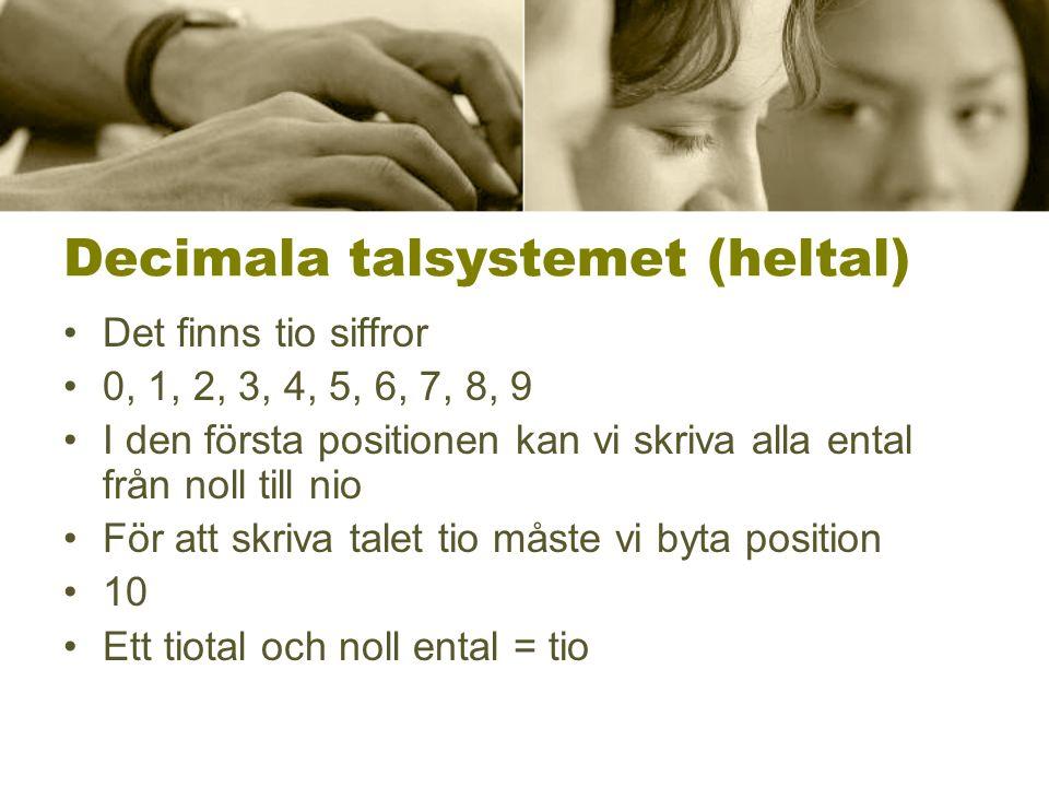 Decimala talsystemet (heltal)