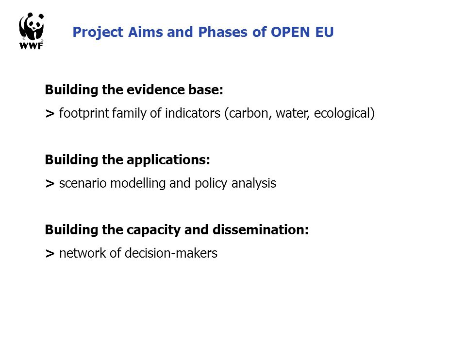 Project Aims and Phases of OPEN EU