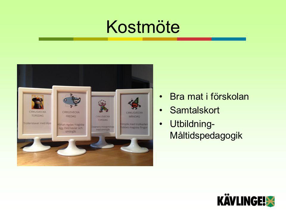 Kostmöte Bra mat i förskolan Samtalskort Utbildning- Måltidspedagogik