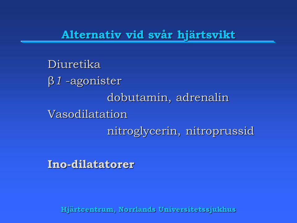 Alternativ vid svår hjärtsvikt