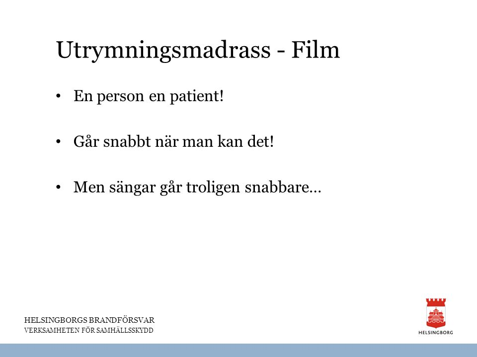 Utrymningsmadrass - Film