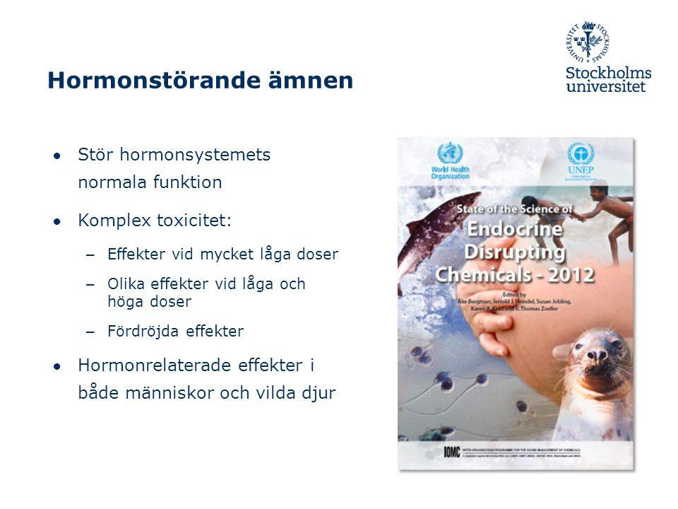 Hormonstörande ämnen Stör hormonsystemets normala funktion