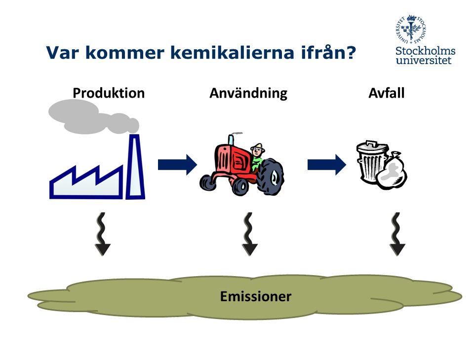 Var kommer kemikalierna ifrån