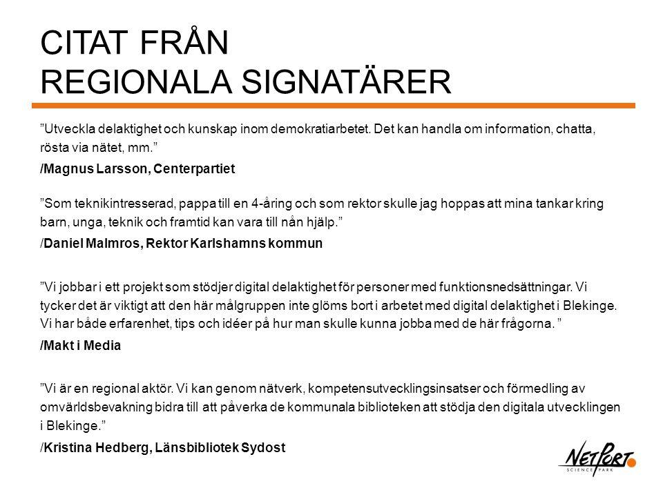 Citat från Regionala signatärer