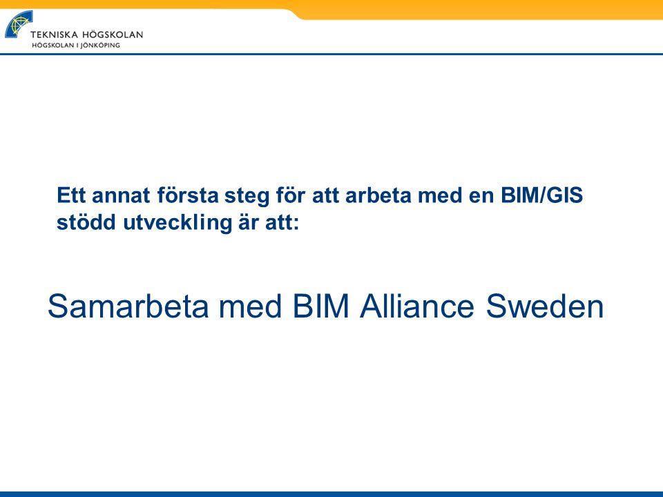 Samarbeta med BIM Alliance Sweden