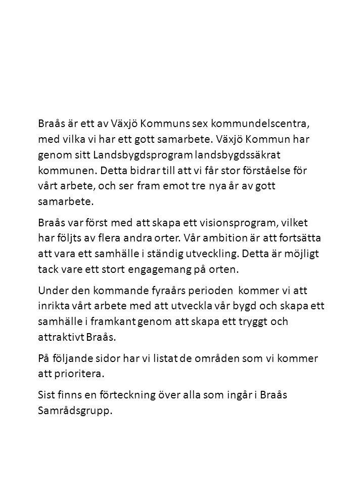 Sist finns en förteckning över alla som ingår i Braås Samrådsgrupp.