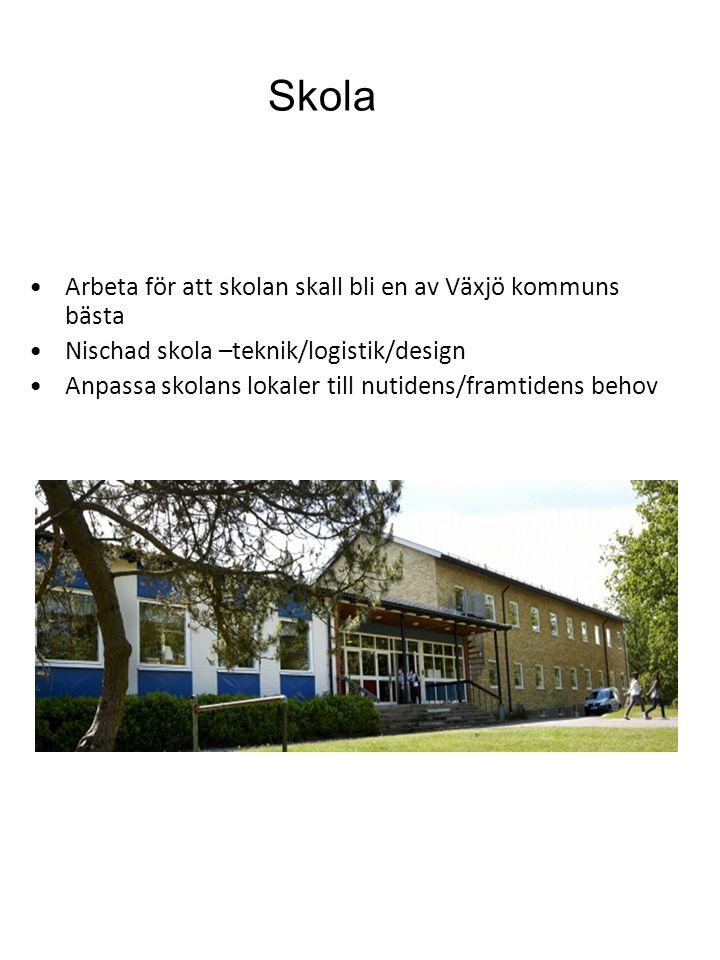 Skola Arbeta för att skolan skall bli en av Växjö kommuns bästa