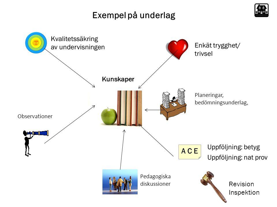 Exempel på underlag Kunskaper Revision Inspektion Planeringar,