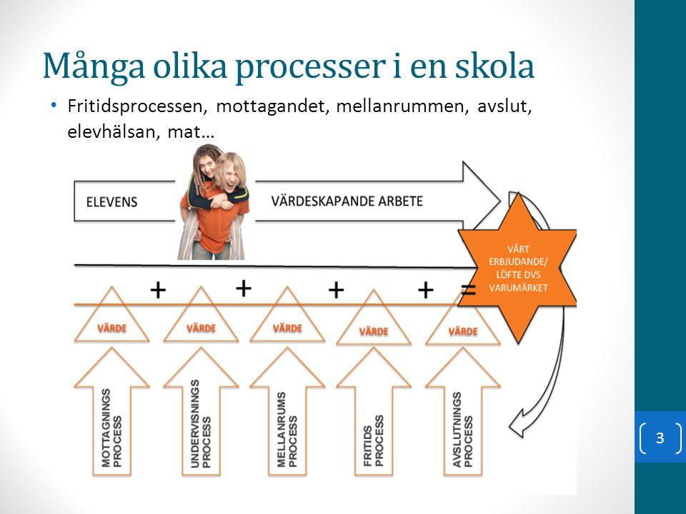 Många olika processer i en skola