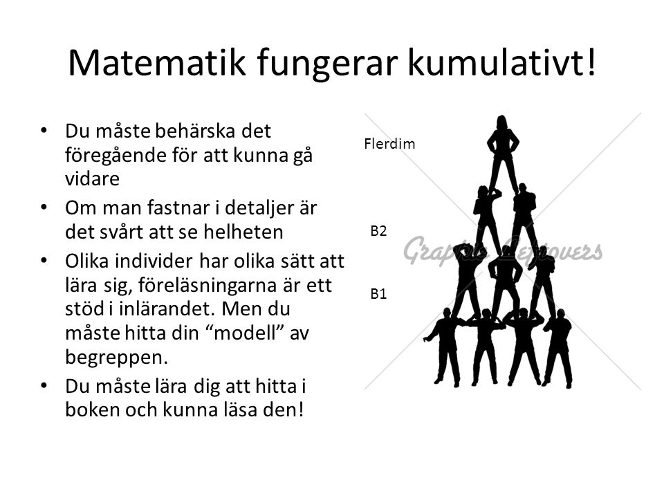 Matematik fungerar kumulativt!