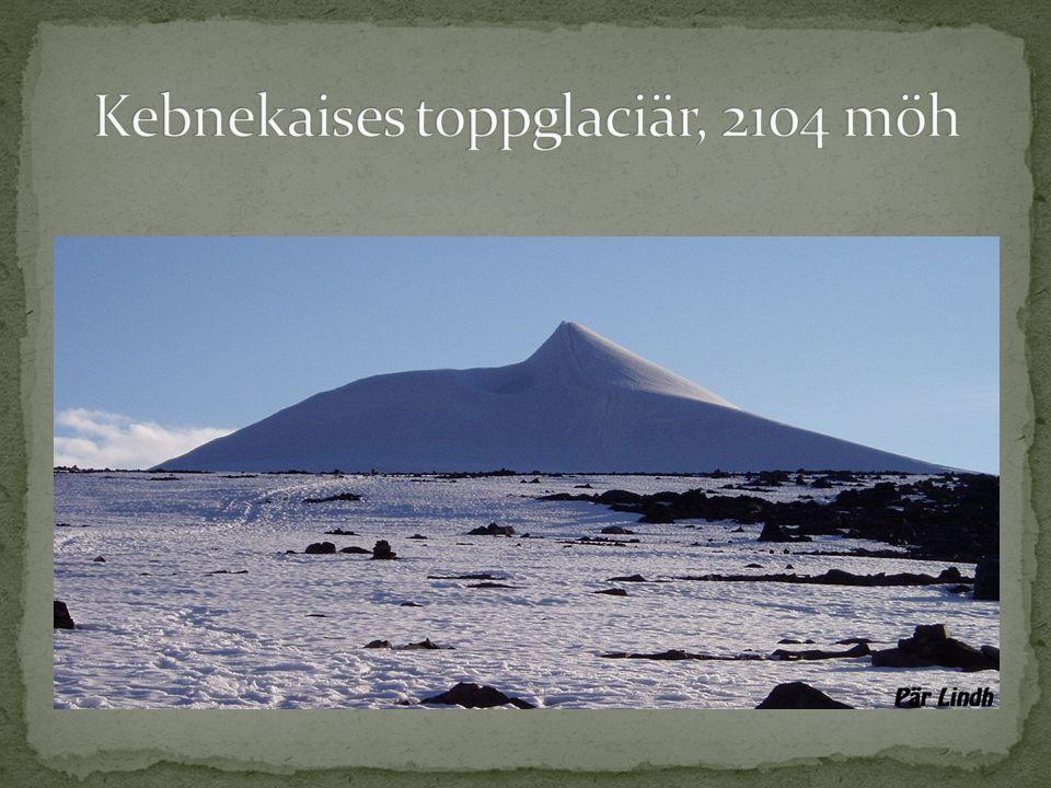 Kebnekaises toppglaciär, 2104 möh