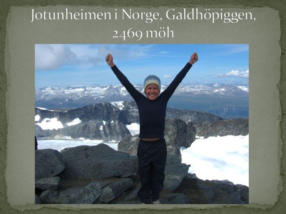 Jotunheimen i Norge, Galdhöpiggen, 2469 möh