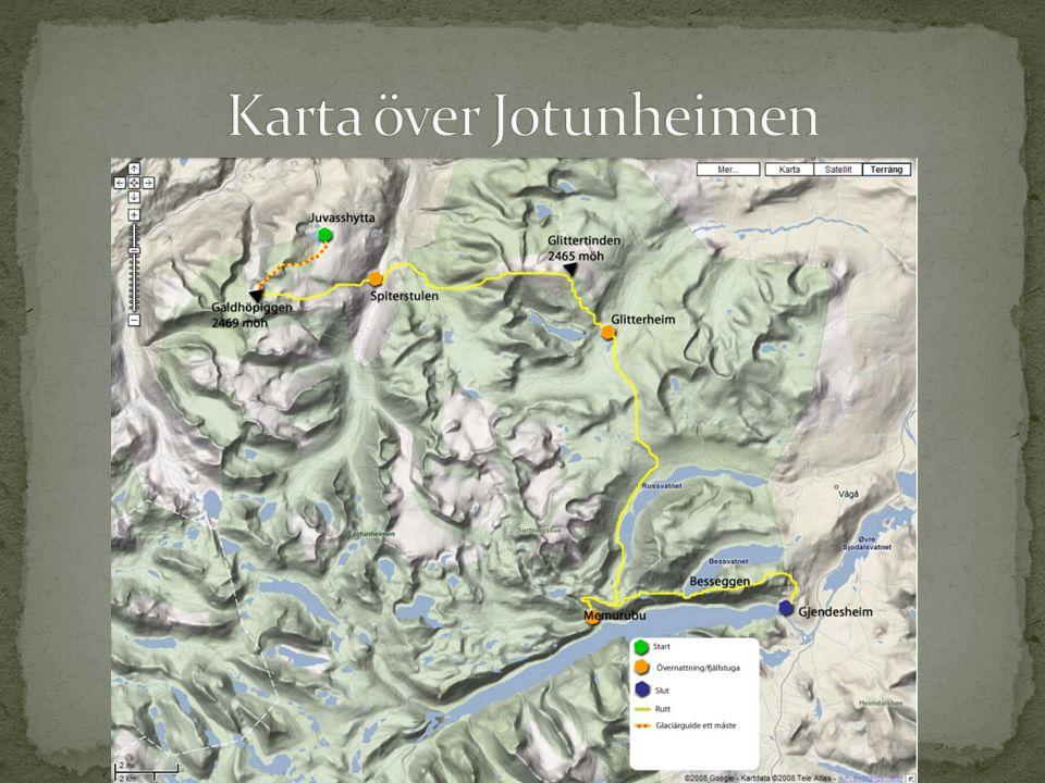 Karta över Jotunheimen