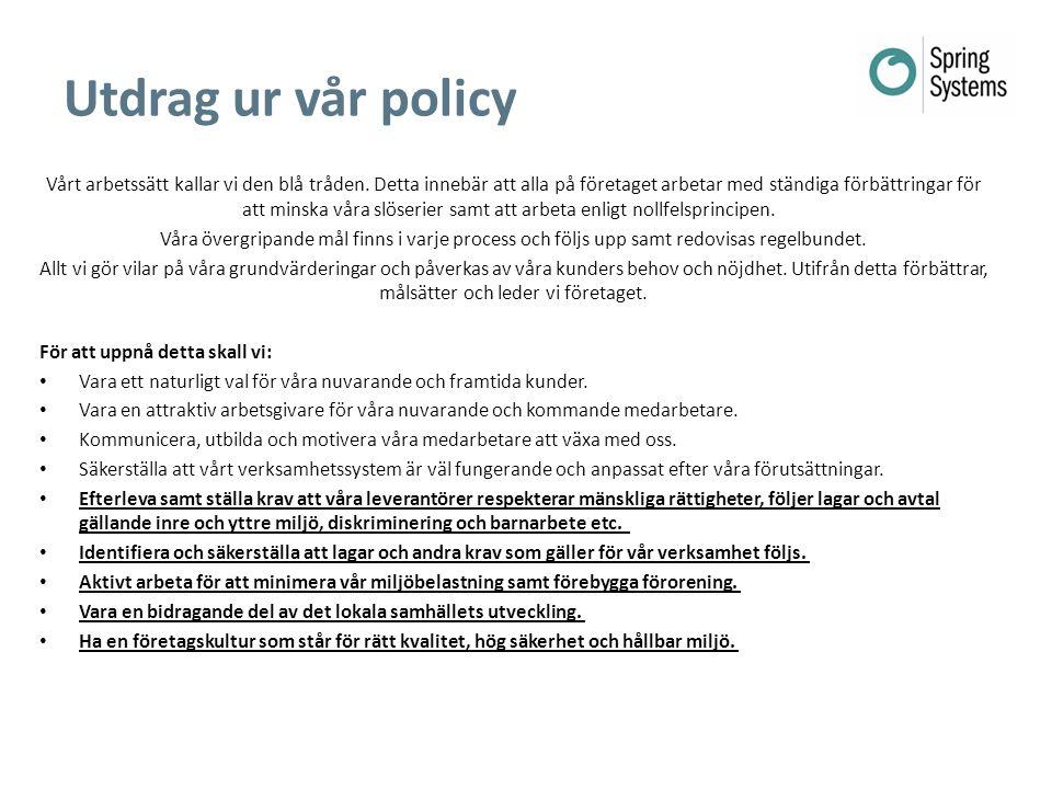 2014-05-20 Utdrag ur vår policy.