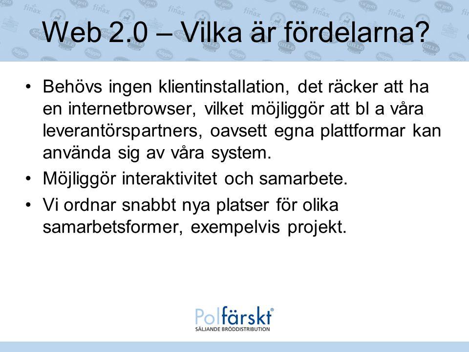 Web 2.0 – Vilka är fördelarna