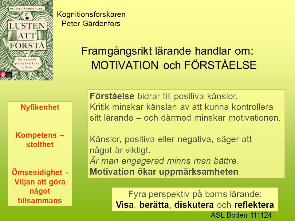 Kognitionsforskaren Peter Gärdenfors