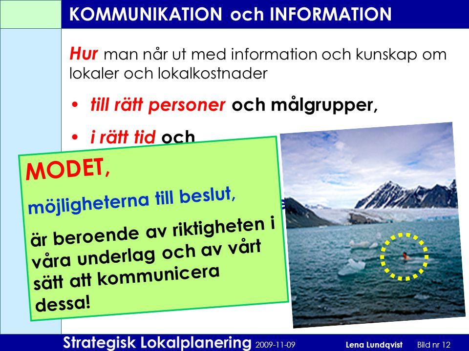 KOMMUNIKATION och INFORMATION