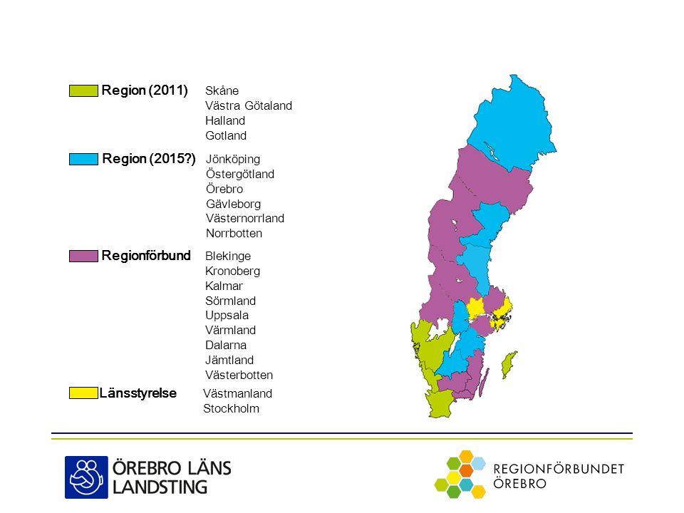 Region (2011) Skåne Västra Götaland Halland Gotland