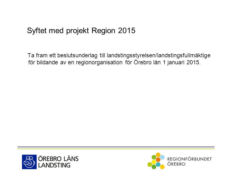 Syftet med projekt Region 2015