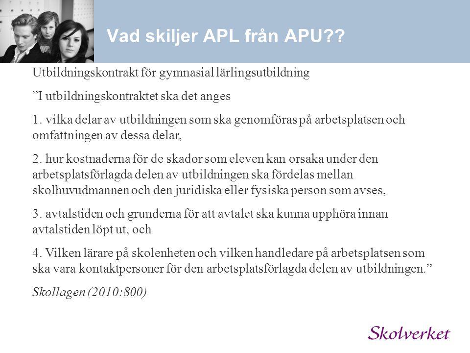 Vad skiljer APL från APU