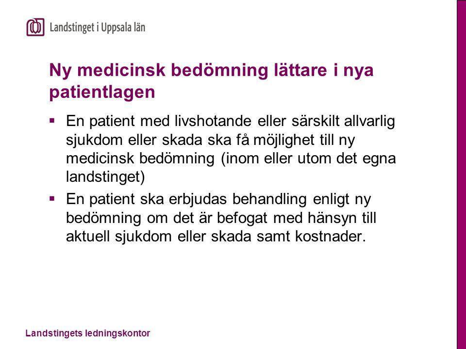 Ny medicinsk bedömning lättare i nya patientlagen