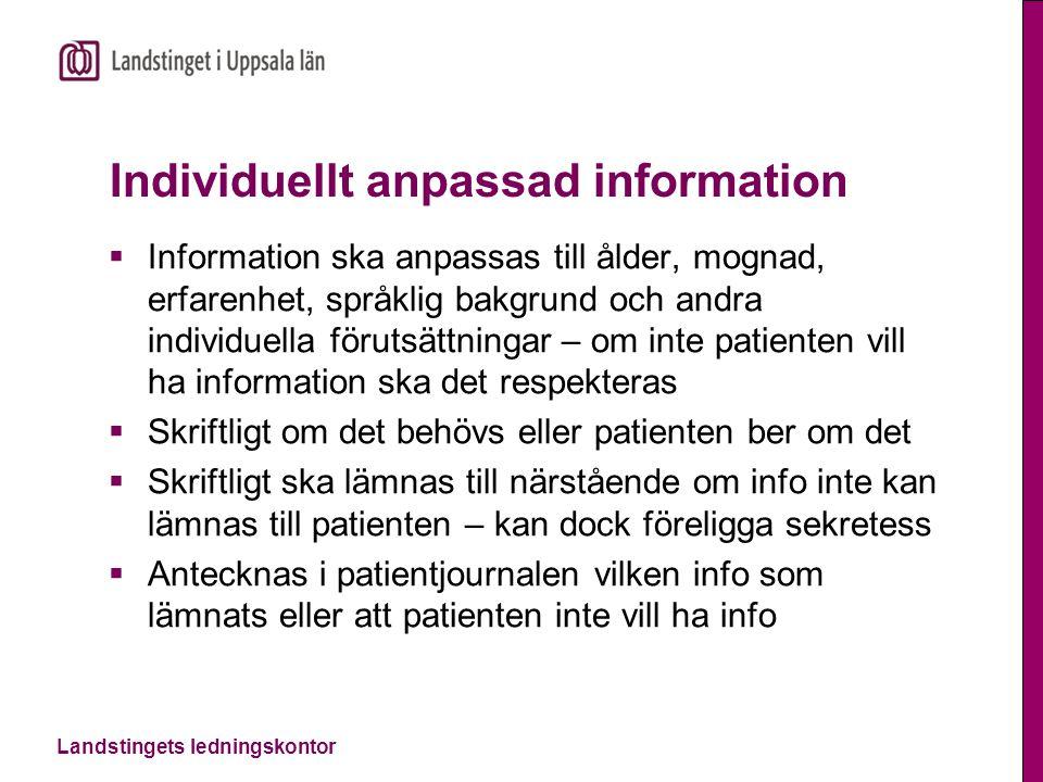 Individuellt anpassad information
