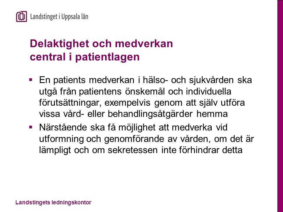 Delaktighet och medverkan central i patientlagen