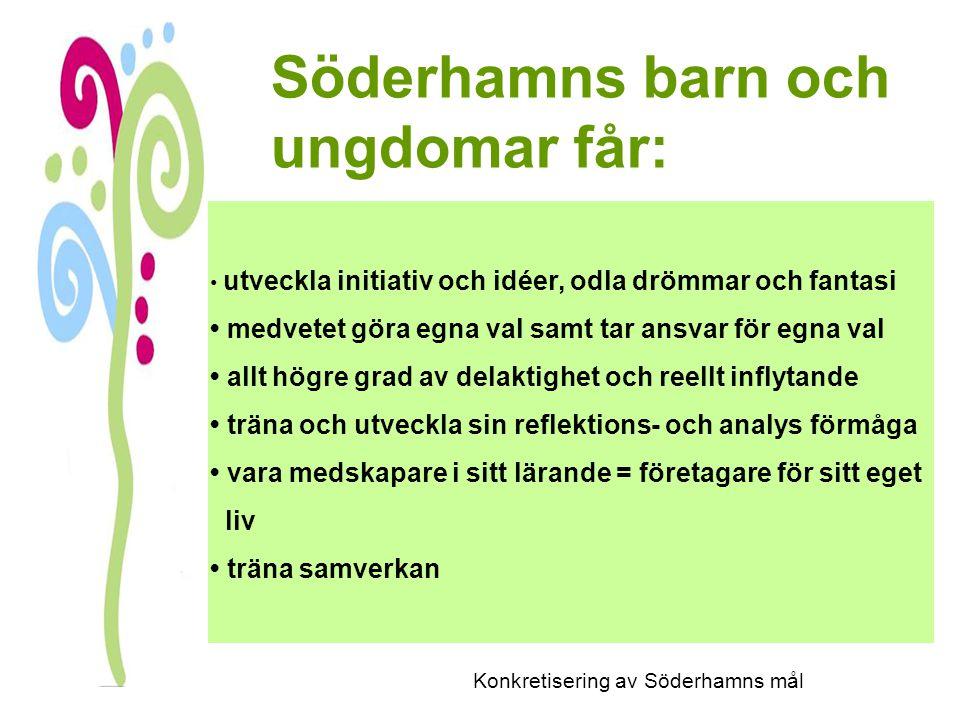 Konkretisering av Söderhamns mål