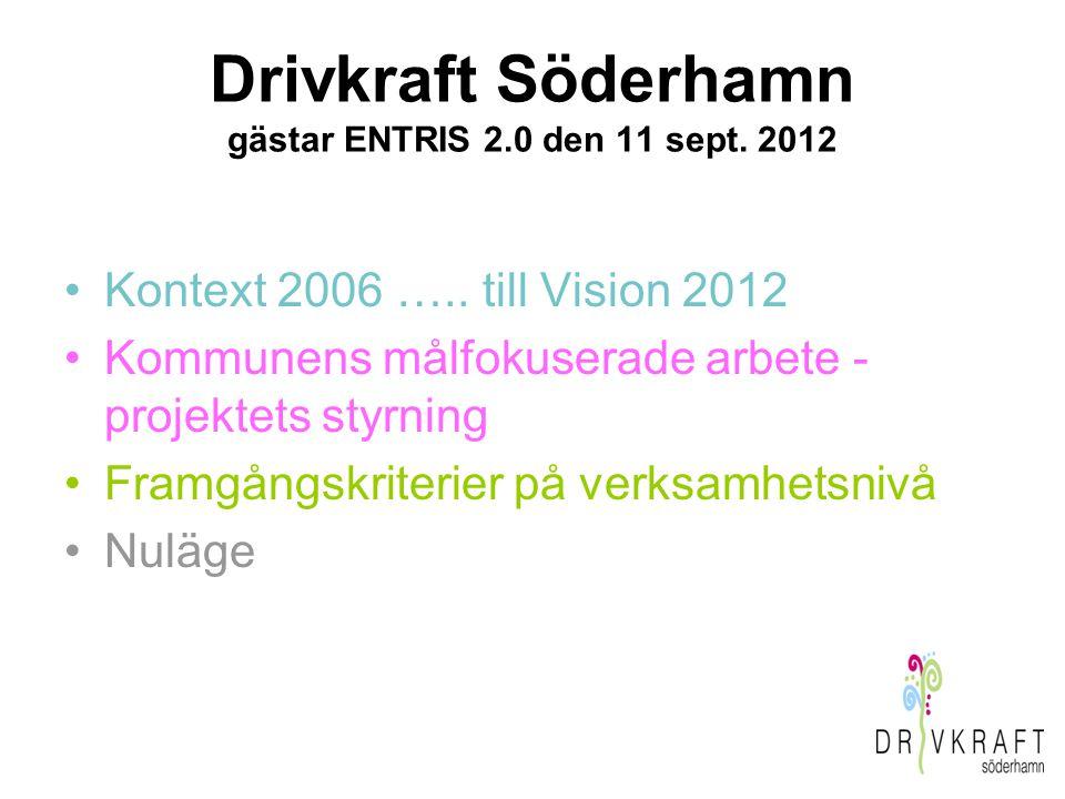 Drivkraft Söderhamn gästar ENTRIS 2.0 den 11 sept. 2012