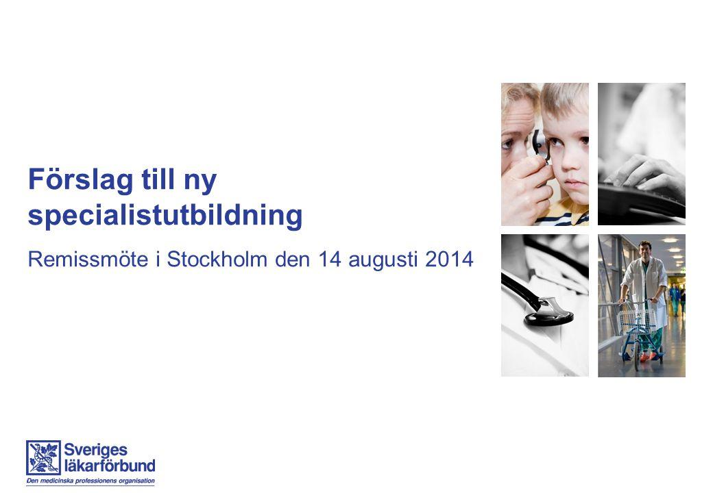 Förslag till ny specialistutbildning