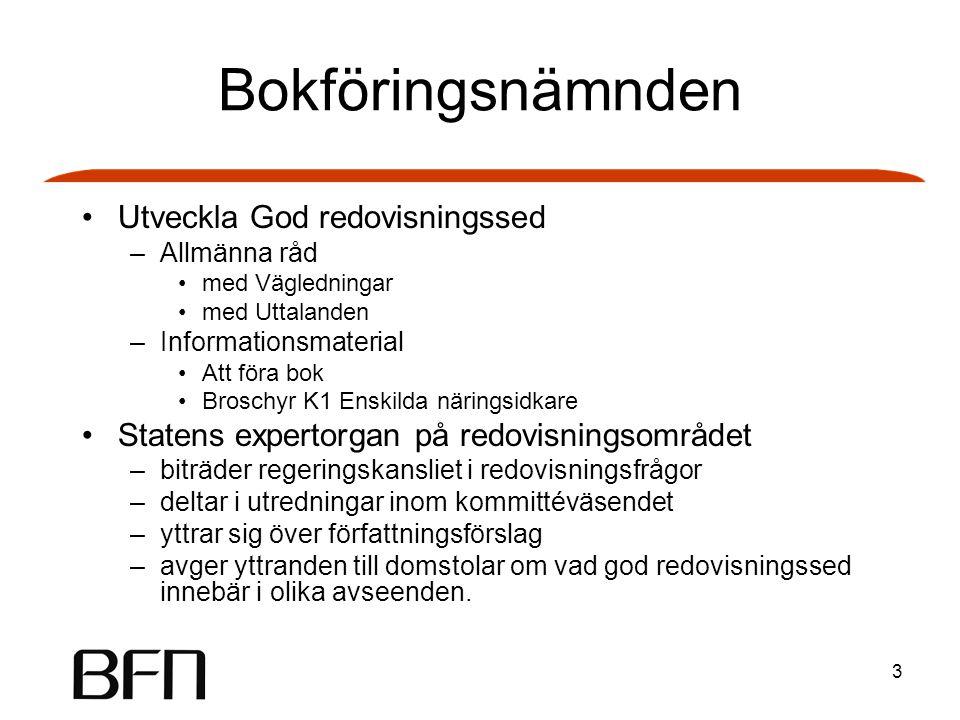 Bokföringsnämnden Utveckla God redovisningssed