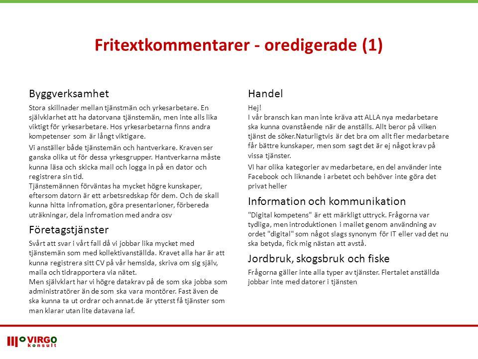 Fritextkommentarer - oredigerade (1)