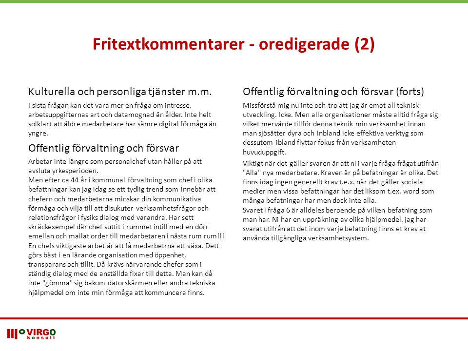 Fritextkommentarer - oredigerade (2)