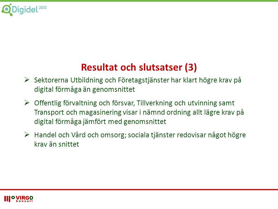Resultat och slutsatser (3)
